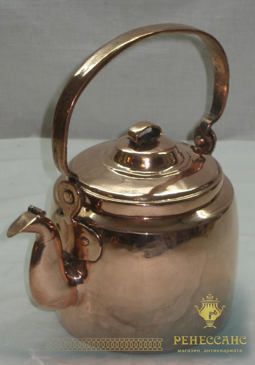 Чайник медный Россия 19 век на 1,5 литра №1245