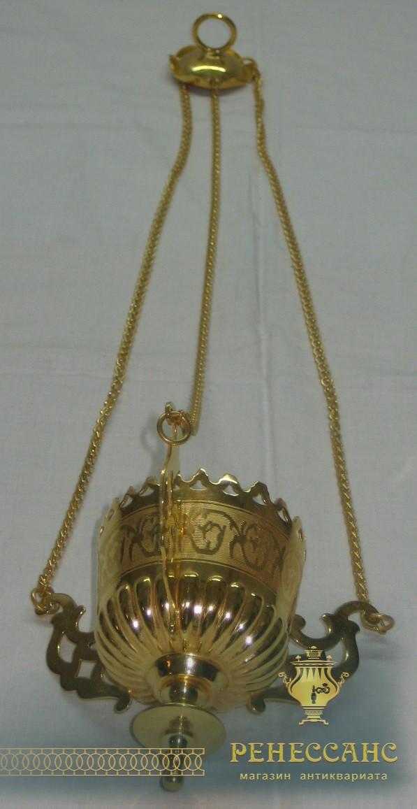 Лампада, лампадка старинная, золочение №1241