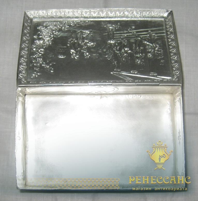 Шкатулка, сахарница серебрение начало 20 века №962