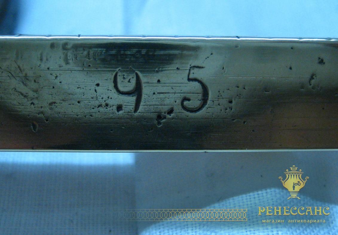 Безмен, весы 1922 года из латуни на 95 фунтов №763