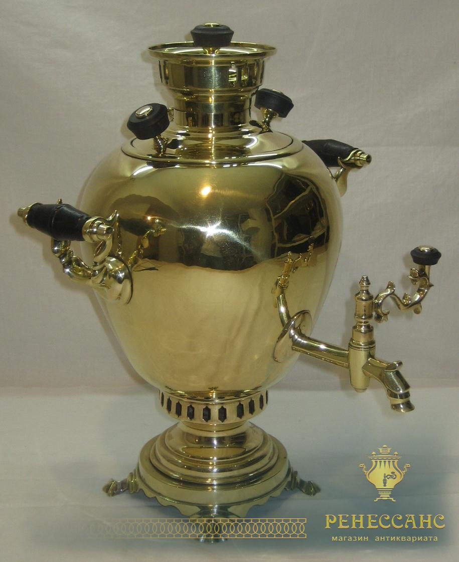 Самовар угольный старинный «яйцо», на 3 литра, Россия 19-20 век №599