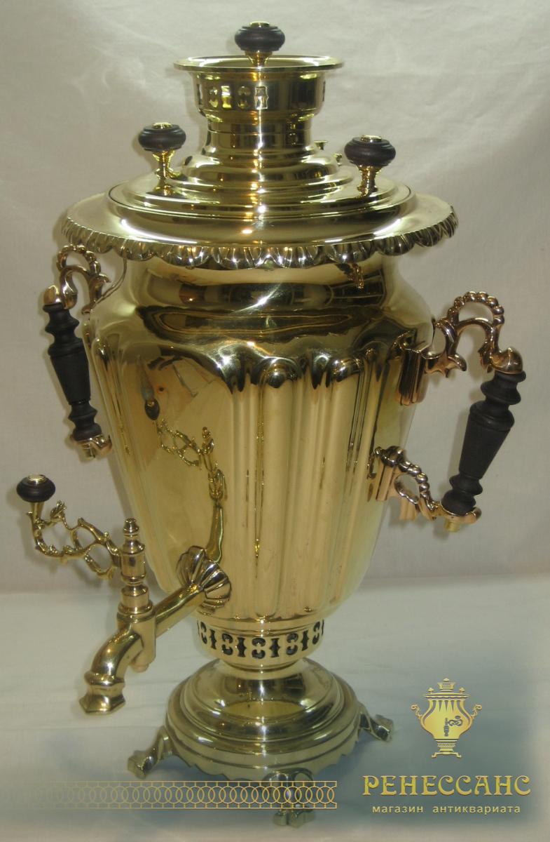 Самовар угольный «византийский», на 5,5 литров, «ТПЗ» 1920-е годы №601