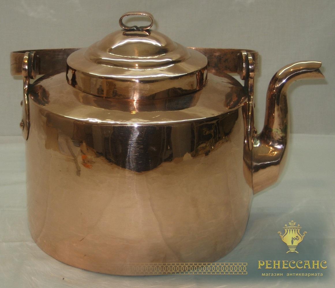 Чайник медный на 6 литров, 19-20 век №2114