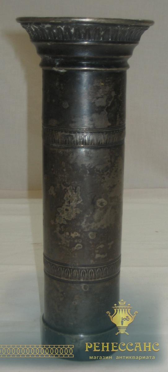 Труба к самовару, старинная, серебрение, кость №2142