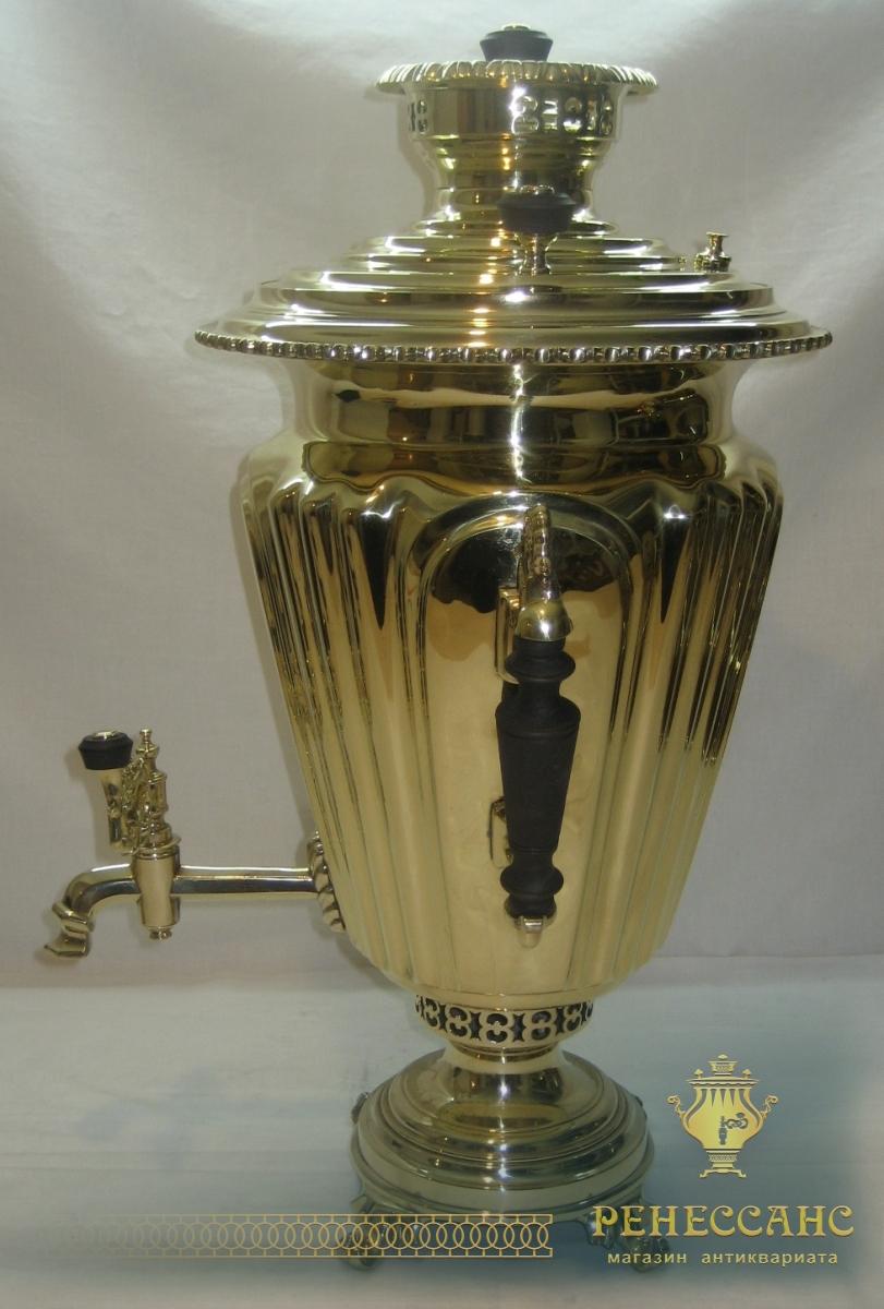 Самовар угольный «византийский», на 7 литров, с набором, «В.С. Баташева» Россия 19 век №631