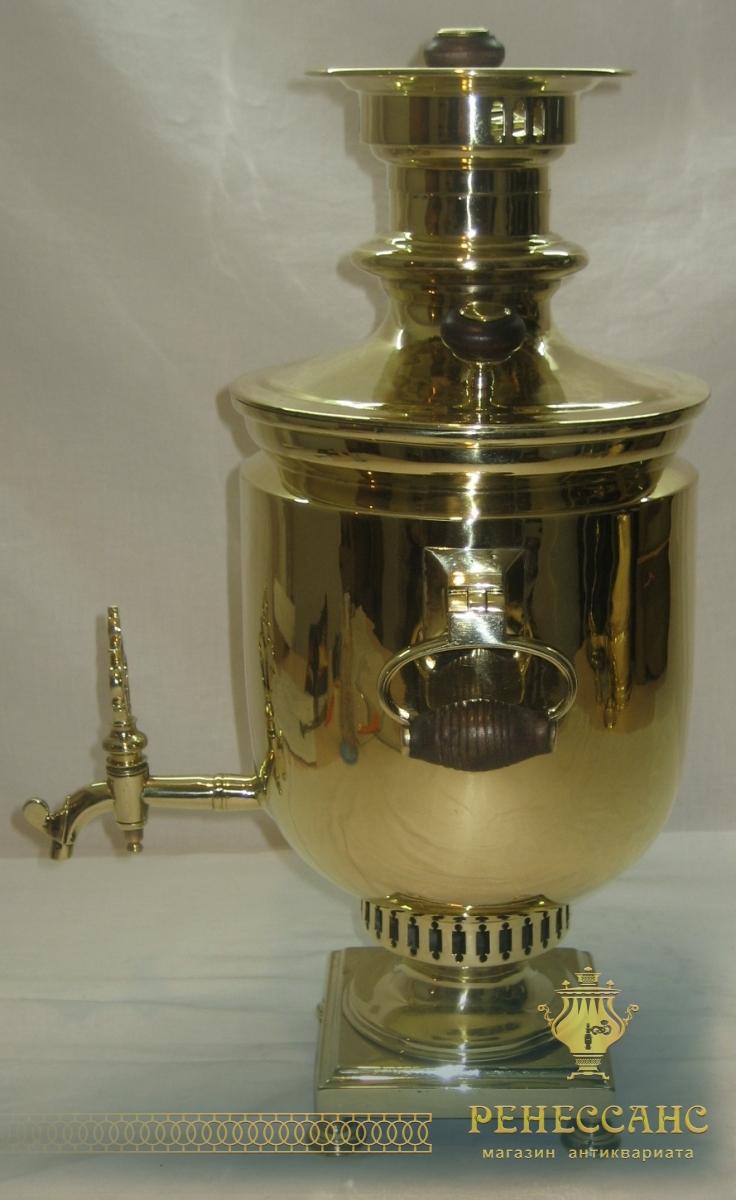 Самовар на дровах «банка», на 3,5 литра, Россия 19 век №634