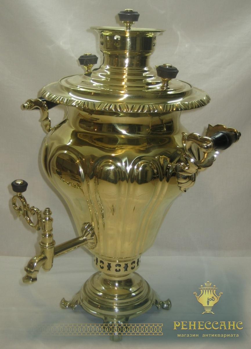 Самовар угольный «груша», на 5,5 литров, Россия 1920-е годы №645