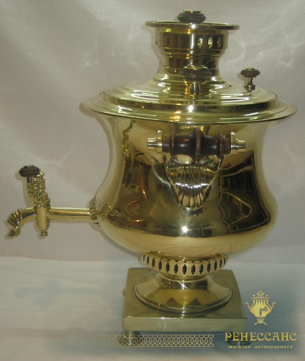 Самовар старинный «ваза», на 6 литров, «Иванъ Каптельцовъ» 19 век №649