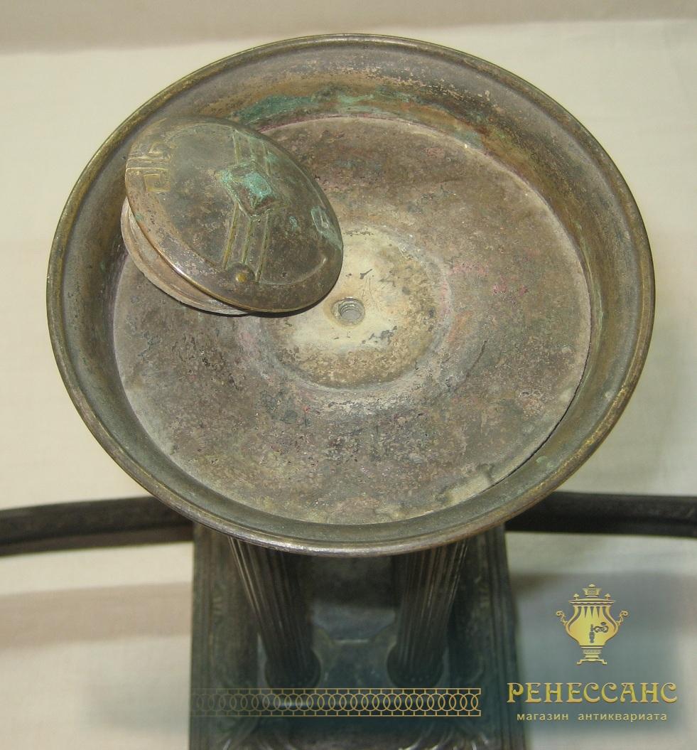 Ваза для фруктов, конфетница, серебрение, «Br. Henneberg» Варшава 19 век №1481