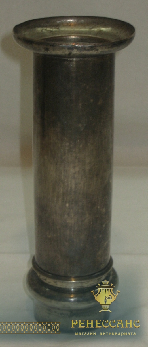 Труба от самовара старинная, серебрение, кость, 19 век №2196