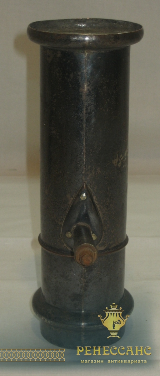 Труба старинная от самовара, серебрение, 19 век №2201