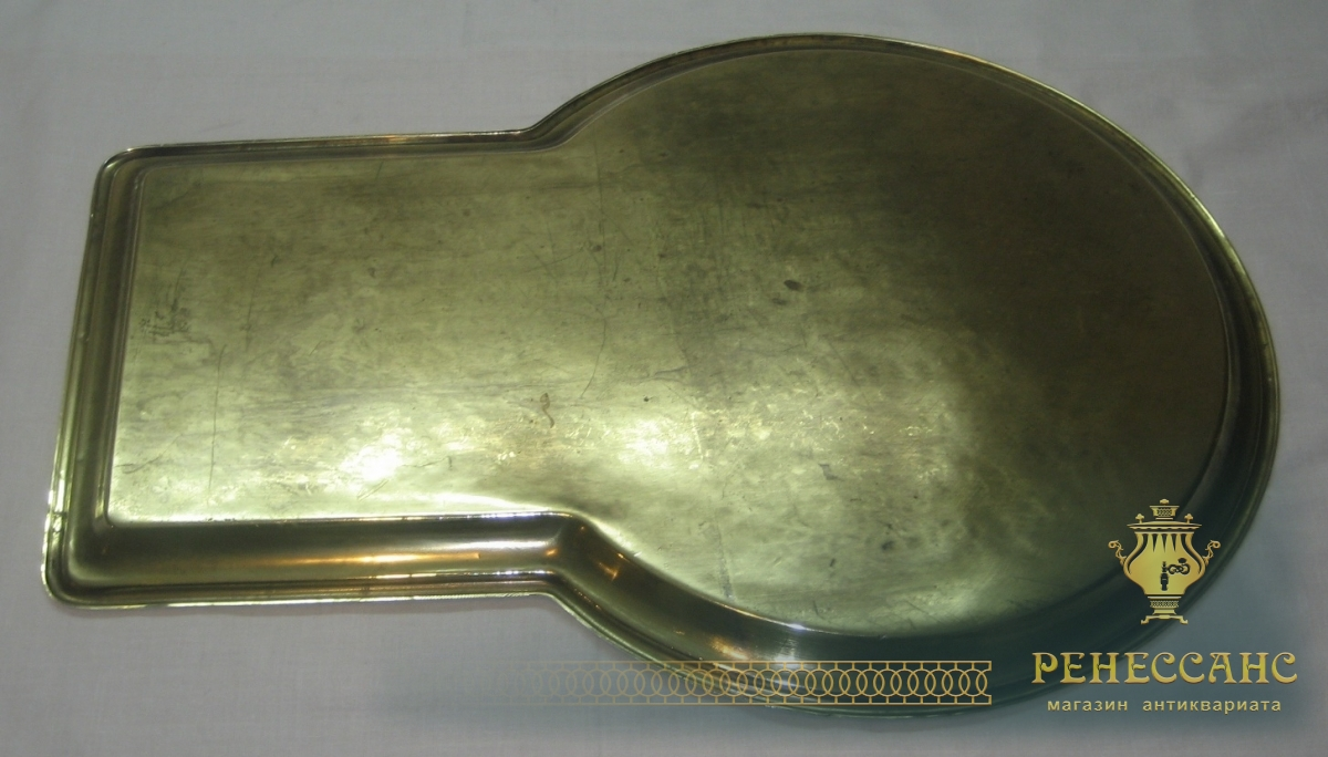 Поднос самоварный «замочная скважина», латунь, «ТПЗ» №2275
