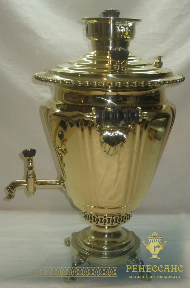 Самовар старинный на дровах «рюмка», на 5 литров, «Н.А. Воронцов» №665