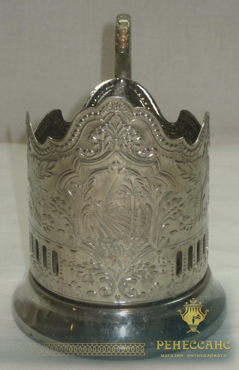 Подстаканник «Крым», никелировка, «Кольчугино» №2298