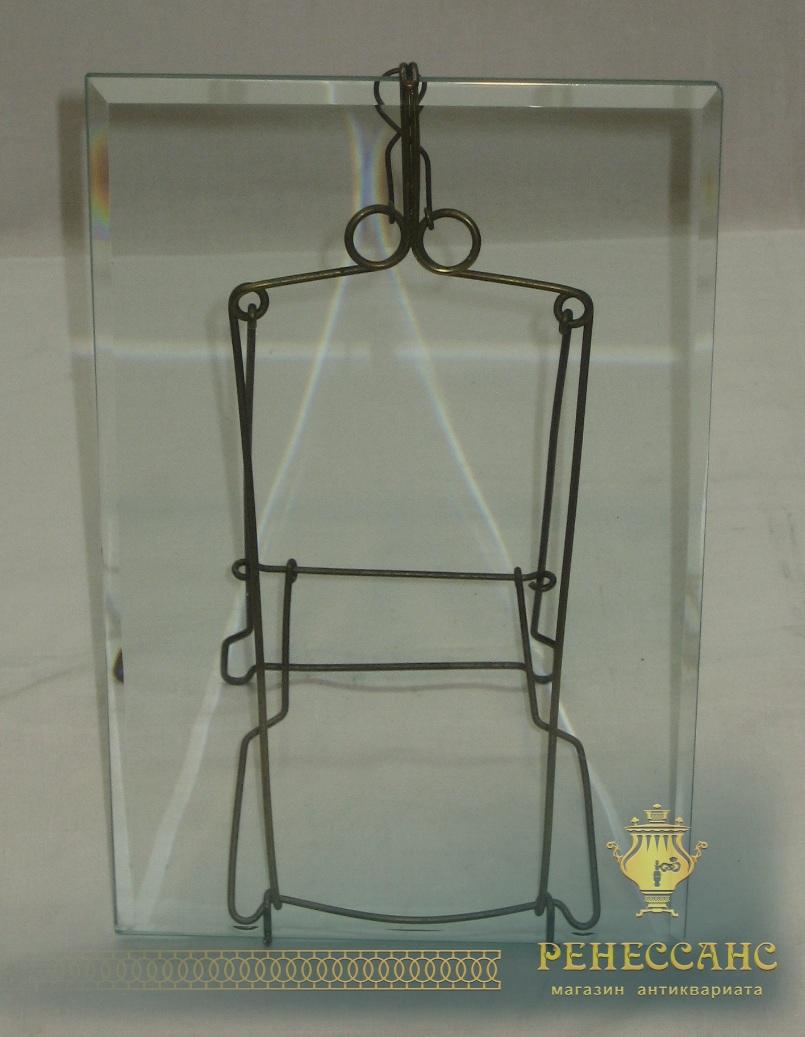 Рамка для фото, настольная, стекло, 19-20 век №2342