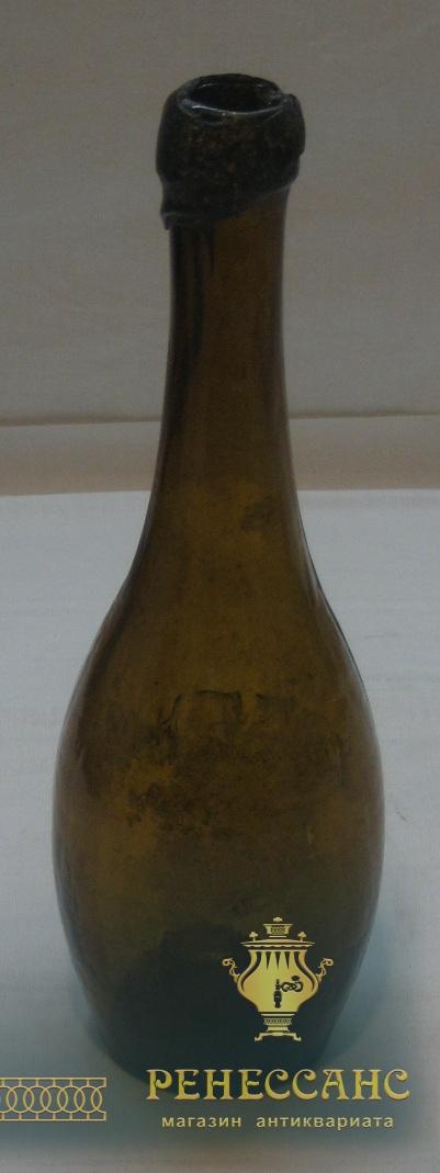 Бутылка пивная старинная, «Богемия» Россия 19 век №1436