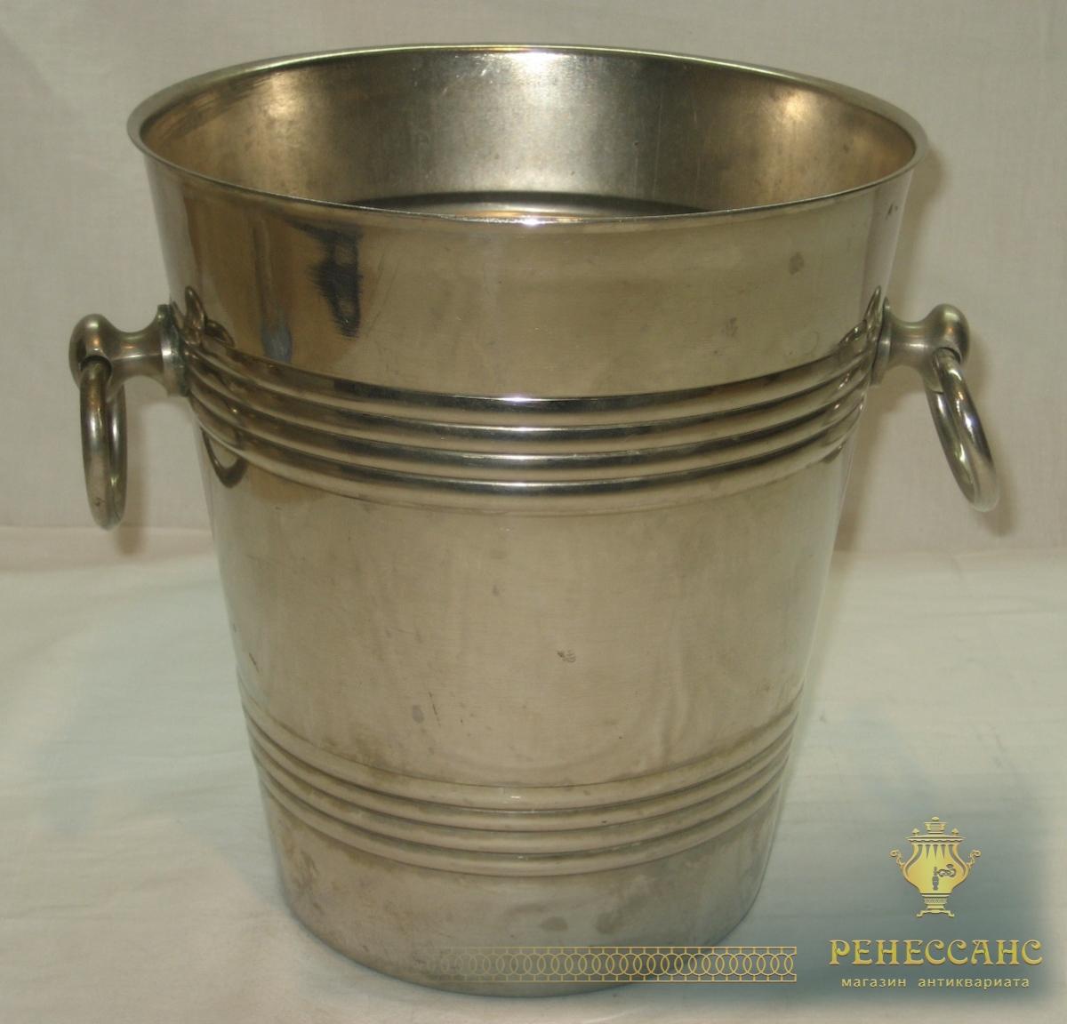 Ведро для шампанского, никелировка, «Кольчугино» №2374
