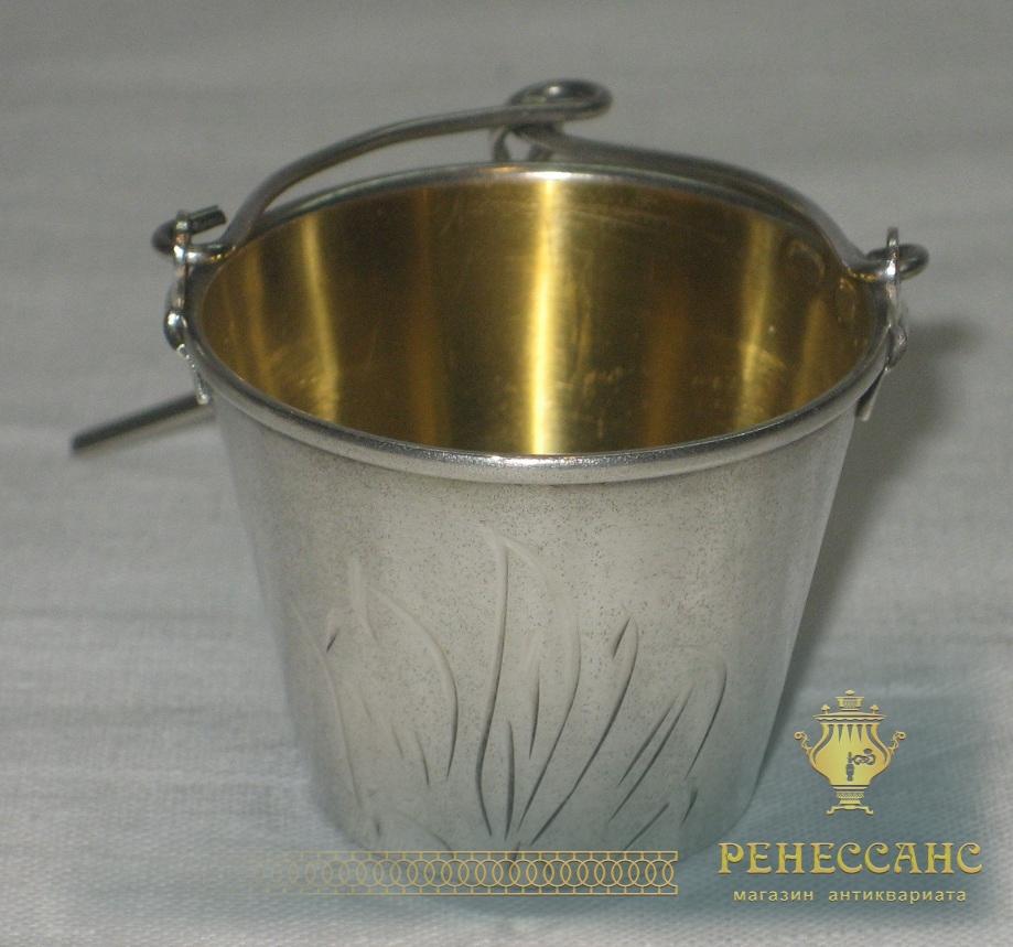 Ситечко серебряное, внутри позолота, СССР №2387
