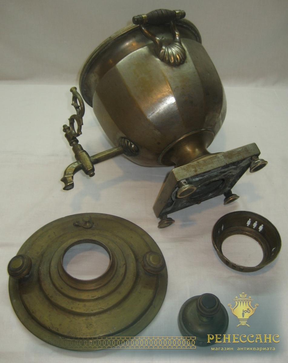 Самовар старинный «чаша» гранная, коллекционный, «Бр. Сомовых» 19 век №676