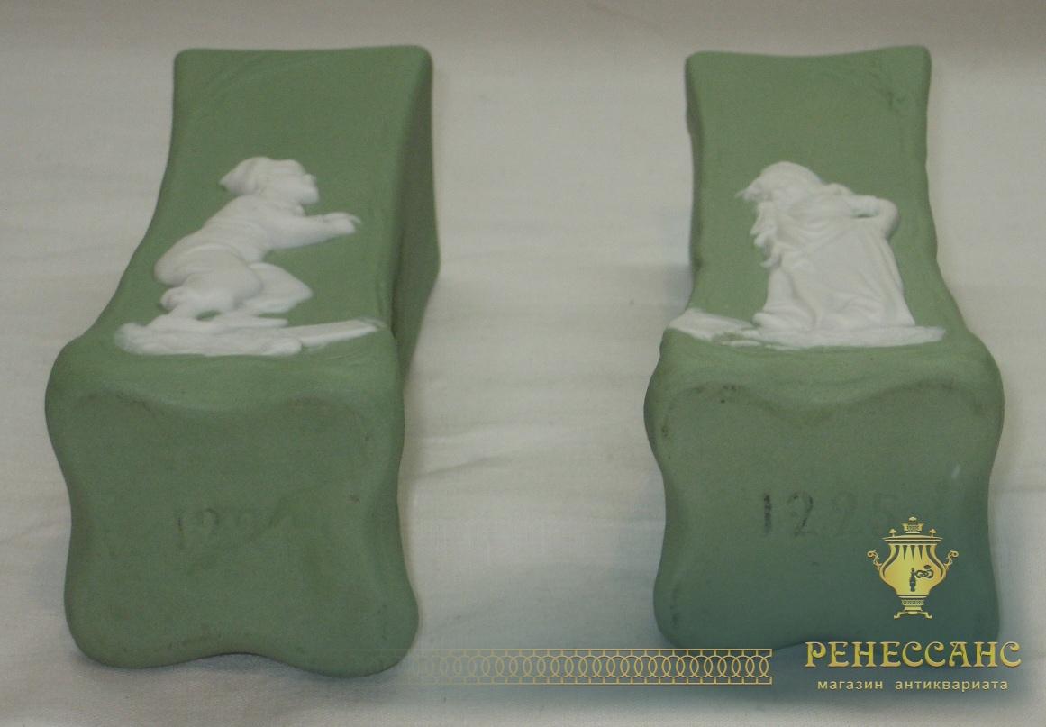 Вазочки парные, бисквит, фарфор, Вербилки №2326