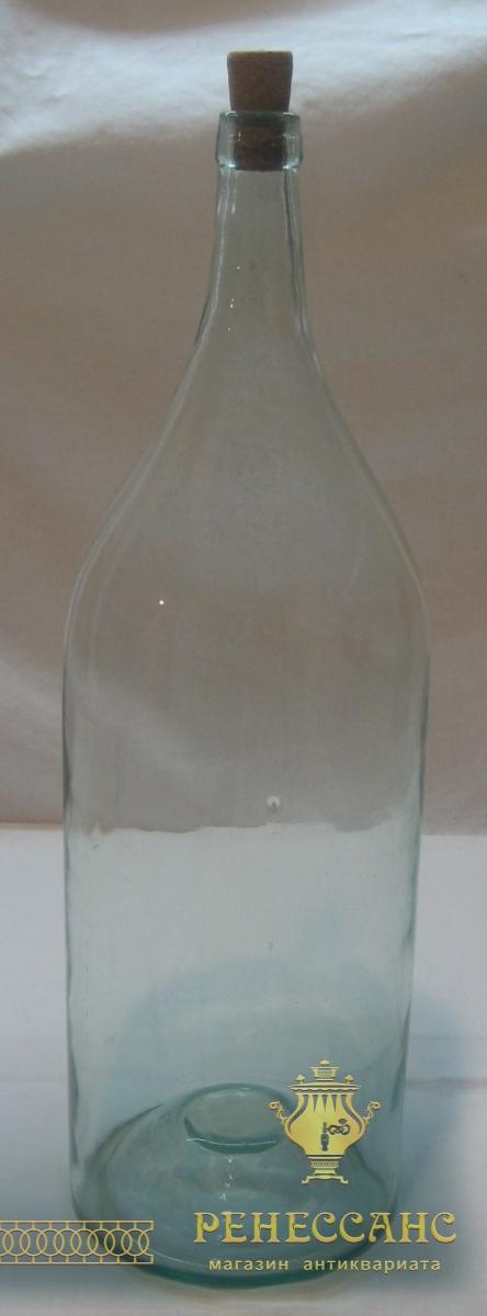 Четверть, старинная бутылка, на 3 литра, 19 век №2396