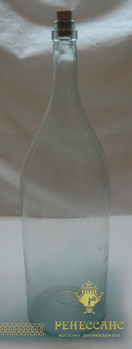 Четверть, бутылка старинная на 3 литра, Россия 19 век №2400