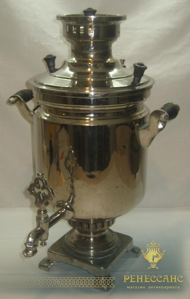 Самовар старинный угольный «банка», на 5 литров, «ГМЗ в Кольчугине» №696