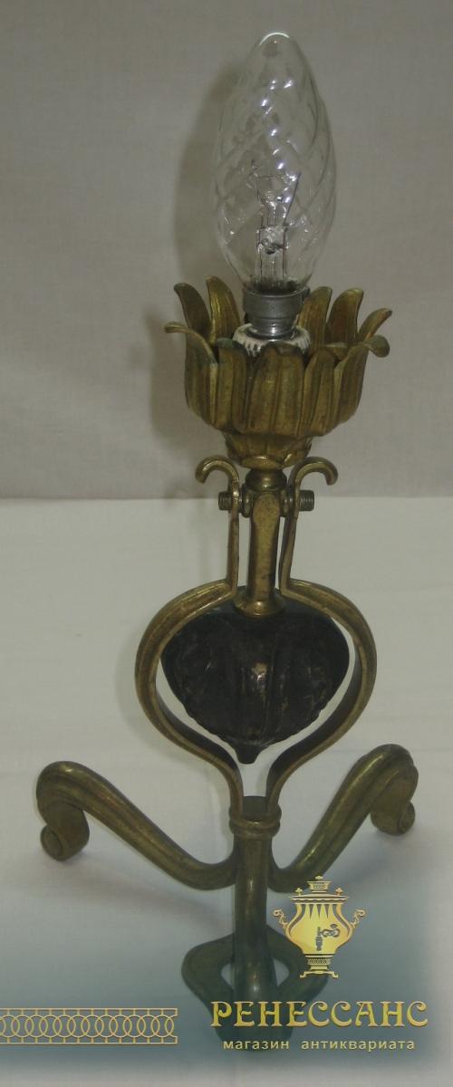 Лампа корабельная, настольная, бра старинное, бронза, 19 век №2403