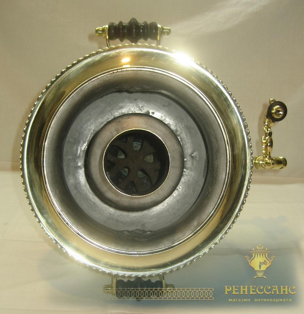 Самовар старинный угольный «кратер», на 2,5 литра, «Н.А. Воронцов» №698