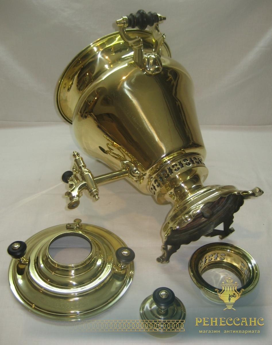Самовар угольный «груша», на 5 литров, в наборе, тяжелый, «Бр. Воронцовых» 19 век №700