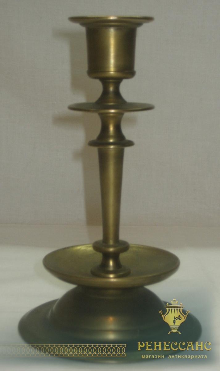 Подсвечник старинный, бронза, 19 век №2446