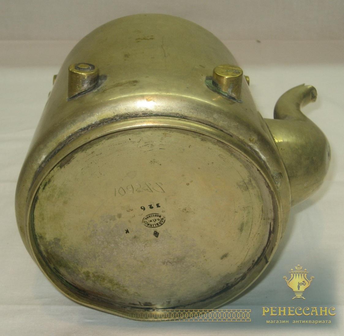 Чайник старинный, бульотка, «Norblin» Варшава 19 век №2457