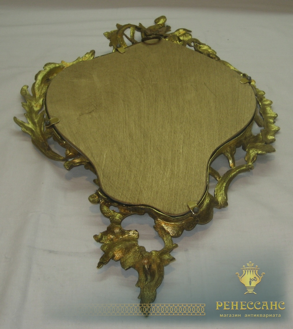 Рамка для фото старинная, позолота, в стиле барокко №2463