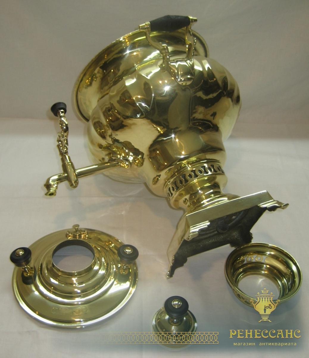 Самовар угольный «ваза» грань пламенем, на 5 литров, «Бр. Шемариных» №708