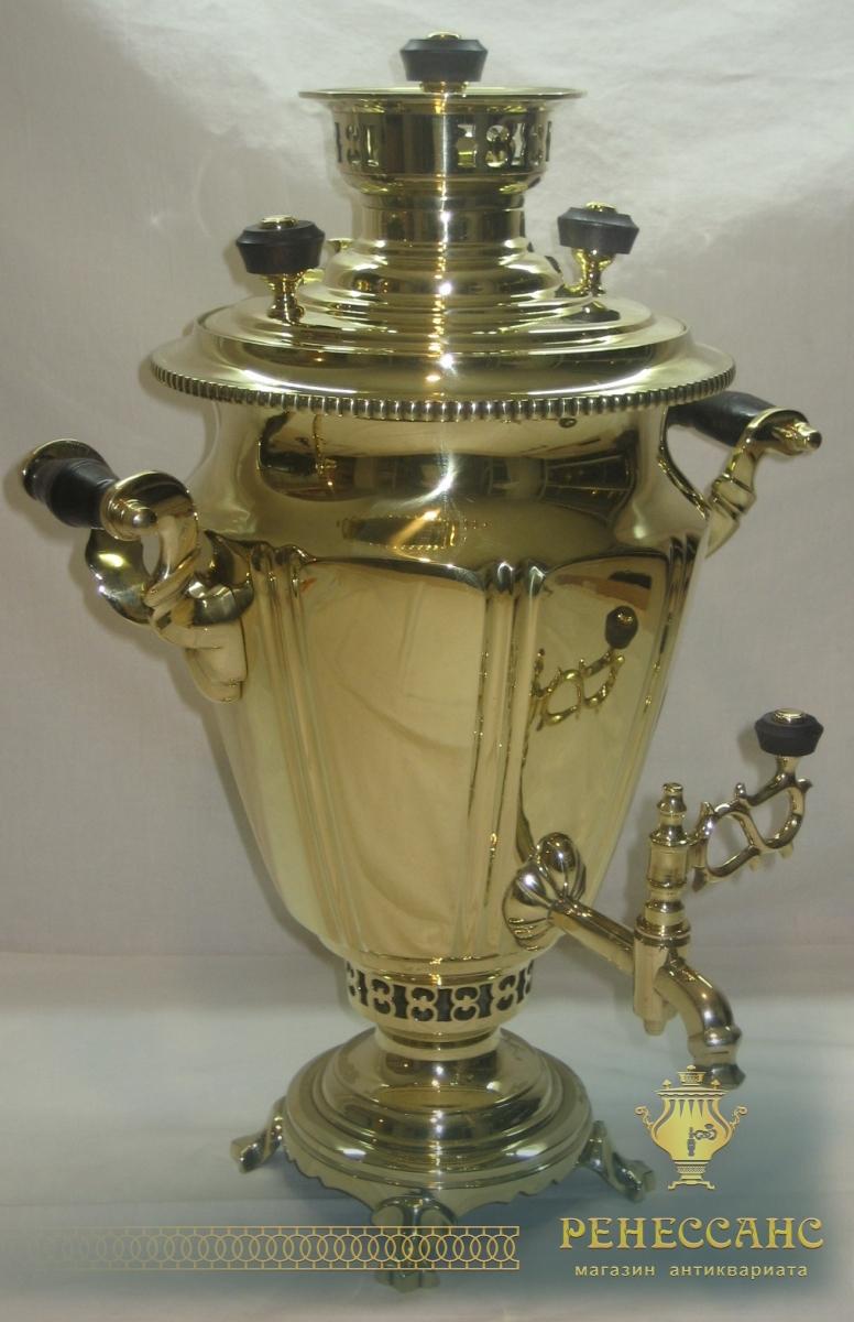 Самовар старинный жаровой «рюмка», на 3,5 литра, «ТПЗ» №709