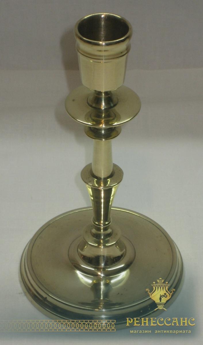 Подсвечник старинный из бронзы, 19 век №2471