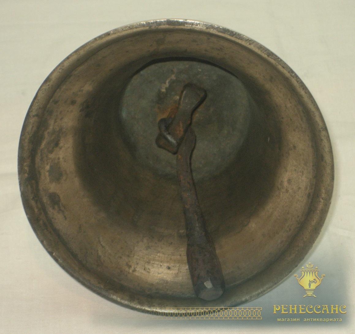 Колокол поддужный, колокольчик бронзовый старинный, 19 век №2476