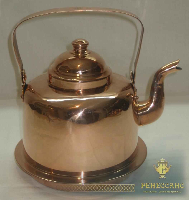 Чайник медный на 1,5 литра, «Хельсинки» 20 век №2498