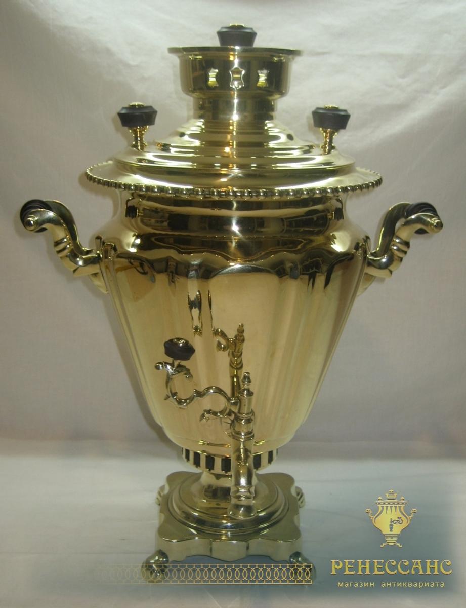 Самовар на дровах «рюмка», на 4 литра, «Н.А. Воронцов» 19-20 век №716