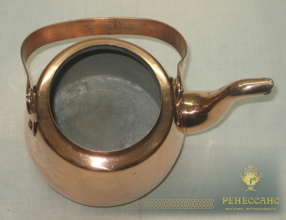 Чайник медный на 1 литр, «Хельсинки» 20 век №2510