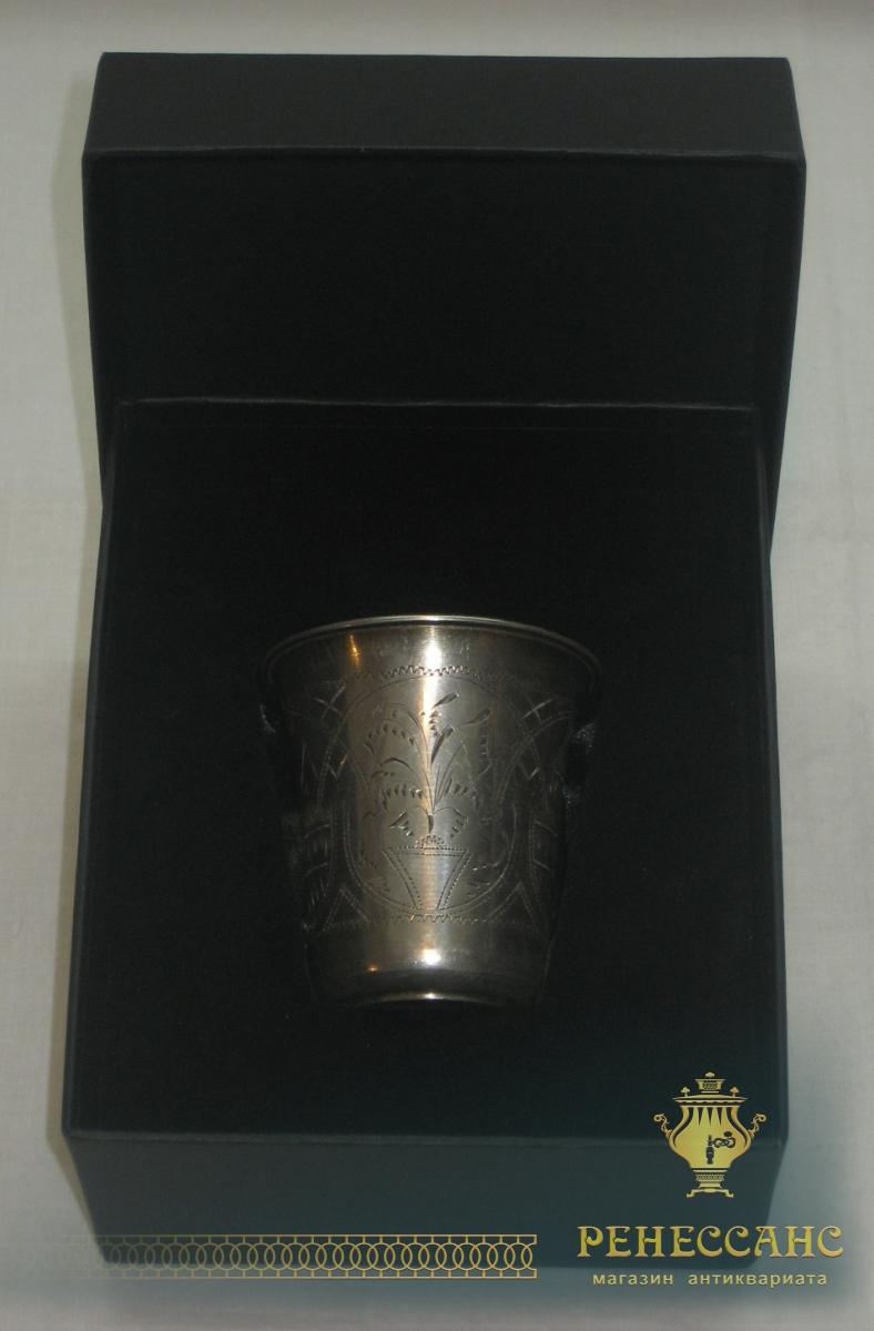 Стакан старинный, серебро 84 пробы, 1894 год №1688