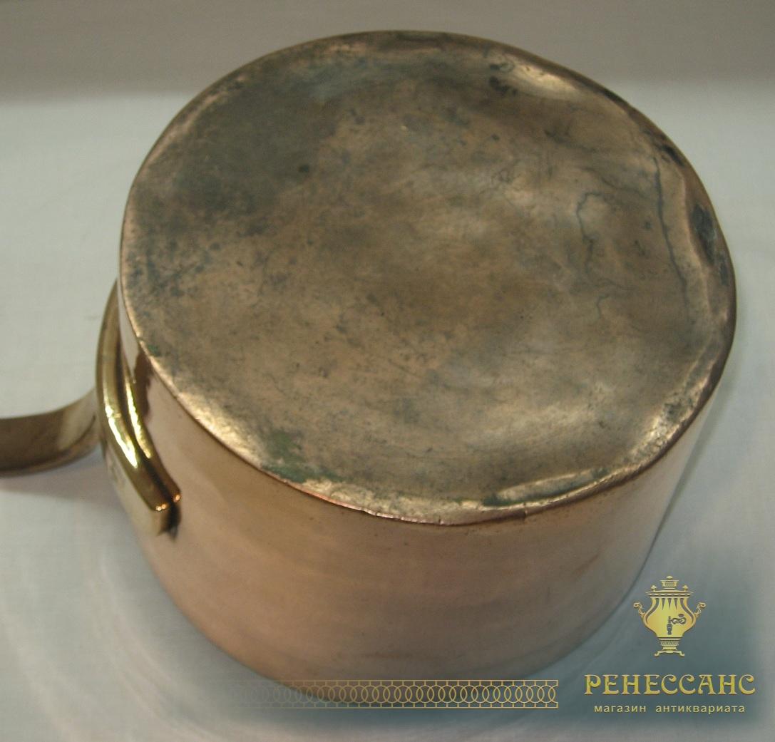 Ковш медный старинный, на 5 литров, «Товарищество Кольчугина» 19 век №2551