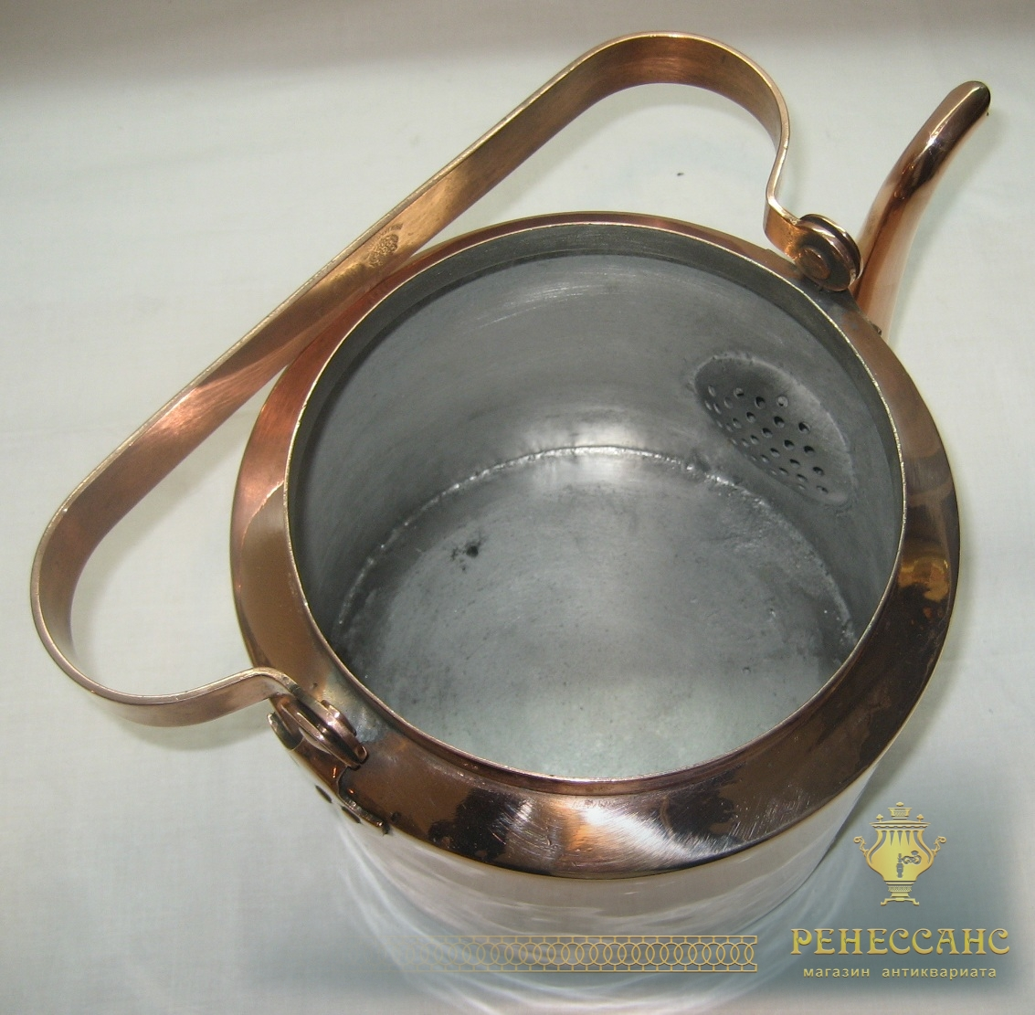 Чайник медный, на 5 литров, «Товарищество Кольчугина» Россия 19 век №2593