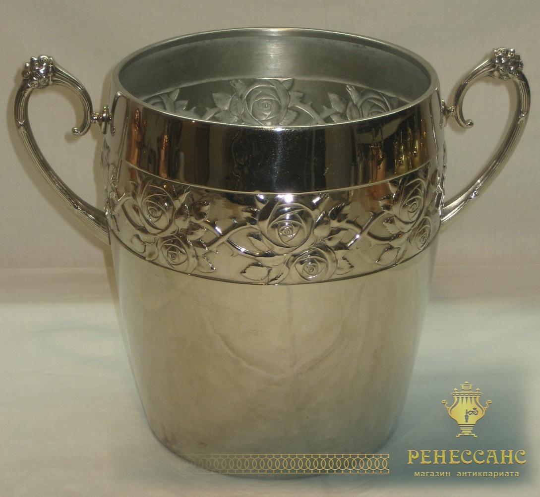 Ведро для шампанского, модерн, «Плевкевич» Варшава 19-20 век №2594