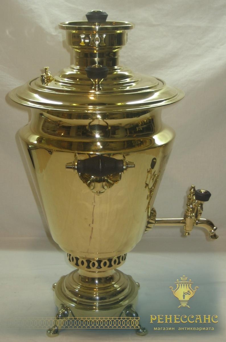 Самовар угольный «рюмка» с медалями, на 5 литров, «Б.Г. Тейле» №732