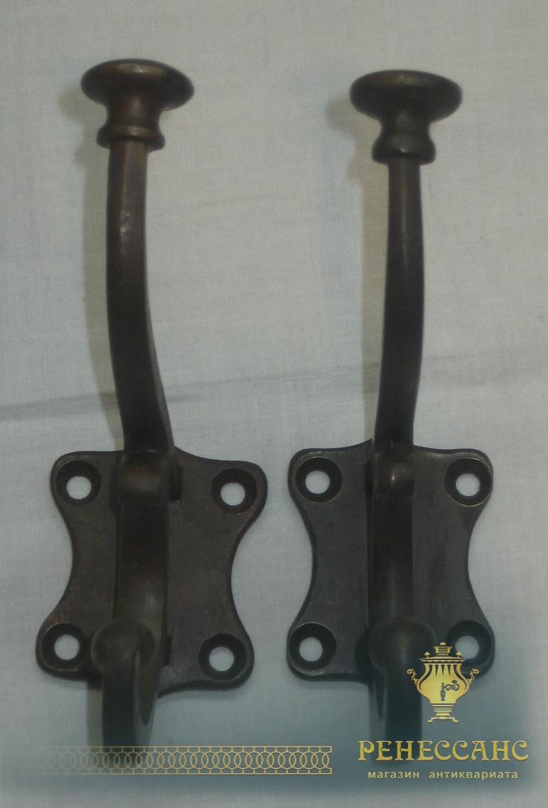 Пара старинных крючков, латунь, Россия 19-20 век №2630