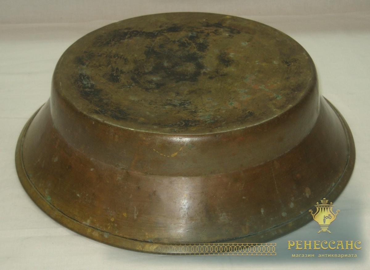 Тазик для варения из латуни, старинный №2656