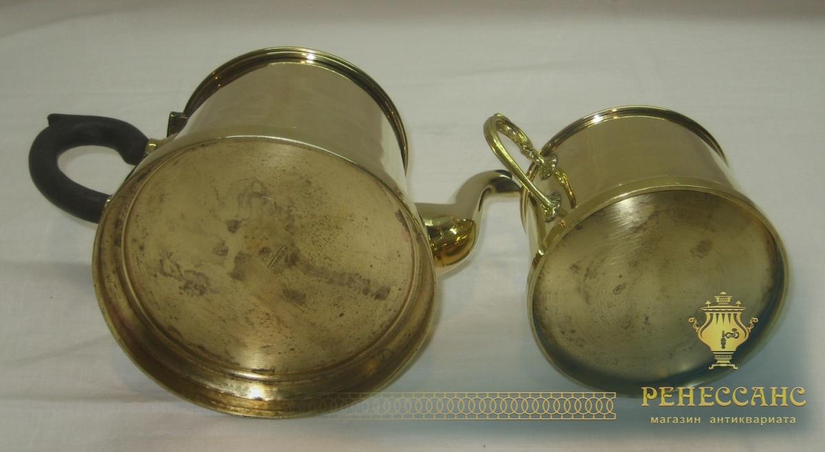Заварочный чайник с сахарницей, Европа 19-20 век №2664