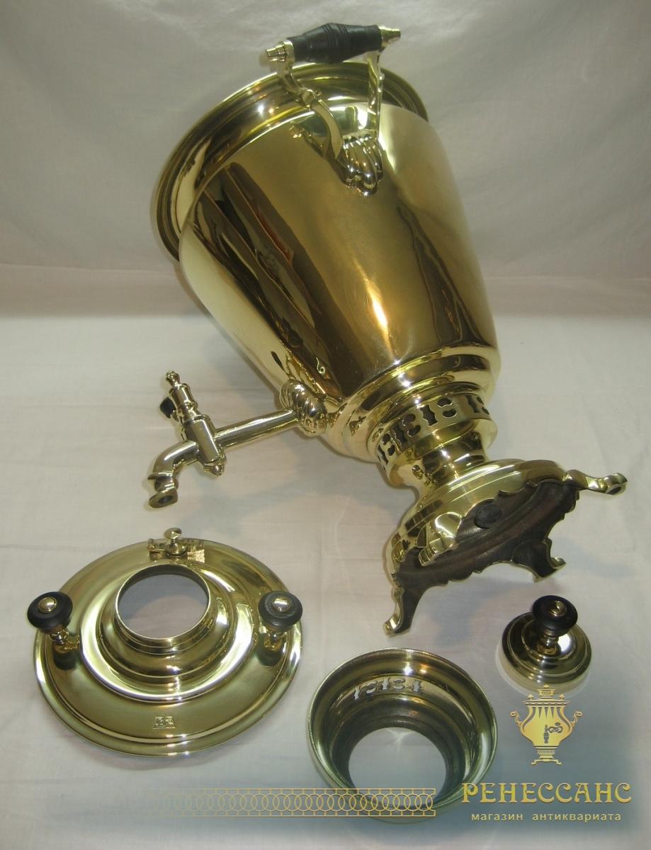 Самовар угольный «рюмка», на 5,5 литров, «П.Т.В.» 1920-е годы №737