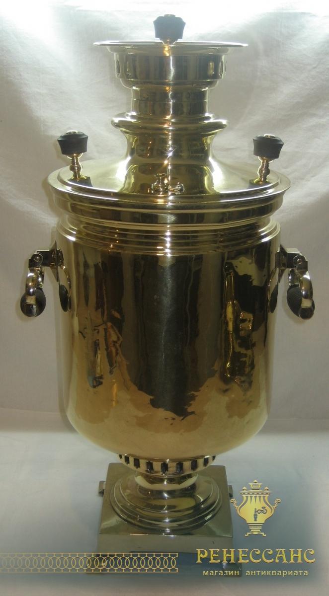 Самовар старинный с медалями «банка» на 9,5 литров, «А.В. Салищева» №742